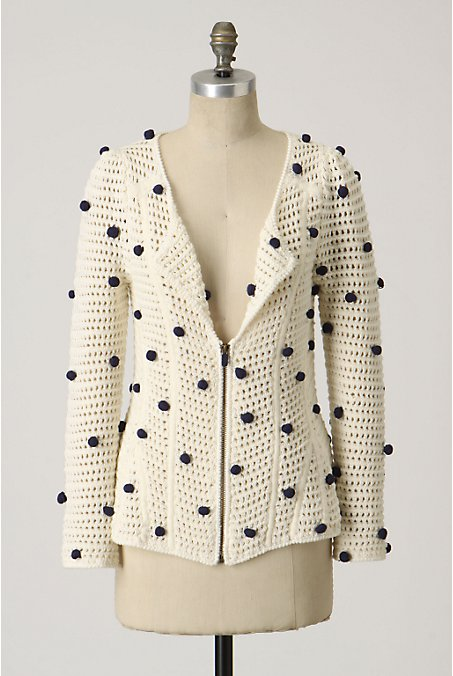 Pompom Cardigan - Anthropologie.com :  moth pompom cardigan cardigan knit cardigan sweater