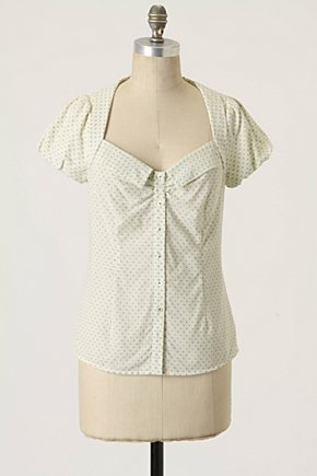 Picture Frame Blouse - Anthropologie.com :  blouse square neckline collar sweet