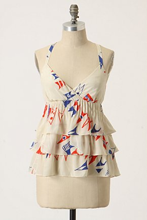 Banderole Tank - Anthropologie.com :  flowy silk tiered nautical