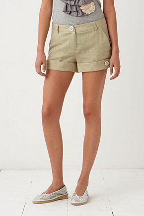 Straight Semblant Shorts - Anthropologie.com :  striped white slant pockets zipper