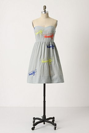 Wright Dress - Anthropologie.com :  striped frock embroidered planes