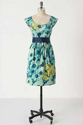 Knotted Poppies Dress - Anthropologie.com :  bow banded poppy sequins