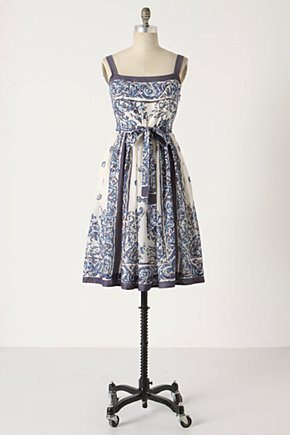 Catmint Dress - Anthropologie.com :  swingy dobby sundress scarf print