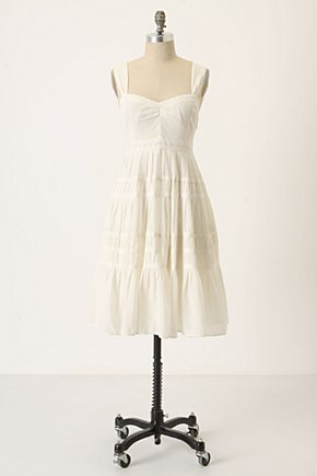 Things & Joys Dress by Maeve - Anthropologie.com :  blue womens sweetheart neckline pleats
