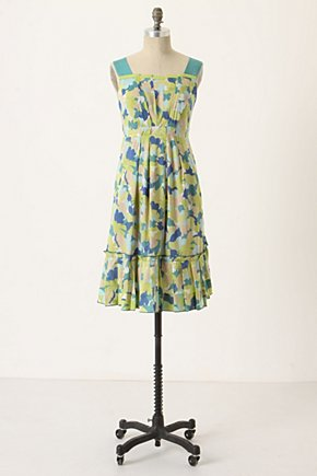 Fresh Current Dress - Anthropologie.com :  sundress front pockets ruffled leaf print