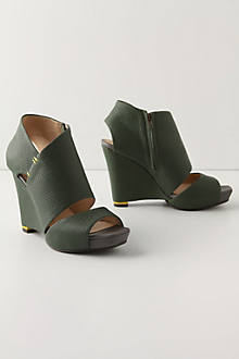Greener Pastures Wedges - Anthropologie.com :  shoes anthropologie footwear leather