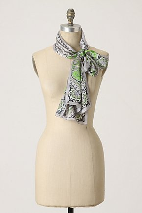 Paisley Kerchief - Anthropologie.com :  black silk cute lime