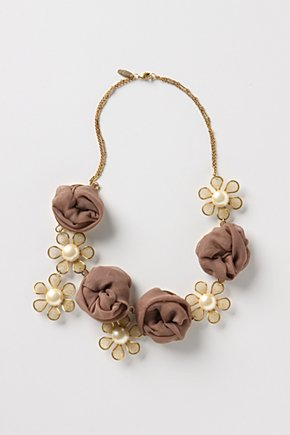 Just-Add-Water Necklace - Anthropologie.com :  necklace gold asymmetrical brown