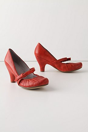 Coated Rouge Heels - Anthropologie.com :  pumps puckered leather knot detail