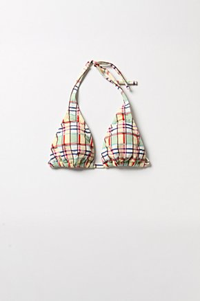 Madras Twist Top - Anthropologie.com :  top plaid tie neck retro