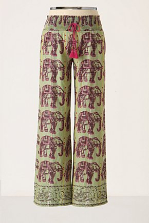 Pachyderm Lounge Pants  - Anthropologie.com :  cotton elephant green loungers