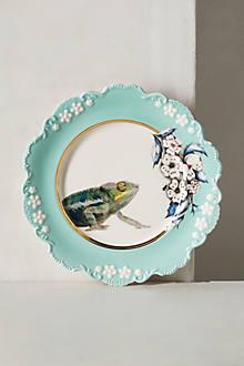 Nature Table Dessert Plate, Chameleon