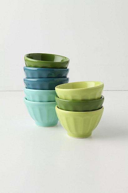 Green and Blue Mini Bowls