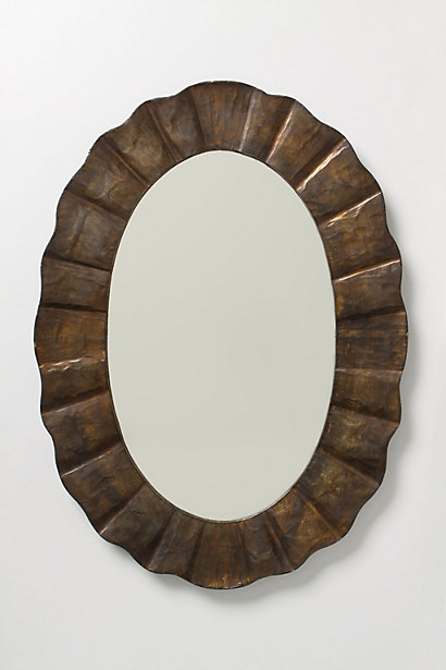 Anthropologie - Rusted Ruffle Mirror