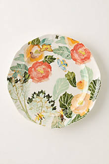 Watercolor Petals Dinner Plate