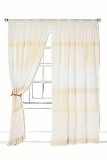Patched Lace Curtain