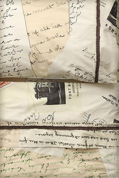 Anthropologie Love Letters Duvet