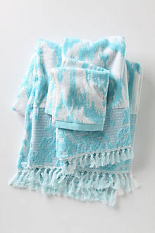 Azure Ikat Towels