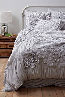 Georgina Duvet Cover, Light Grey