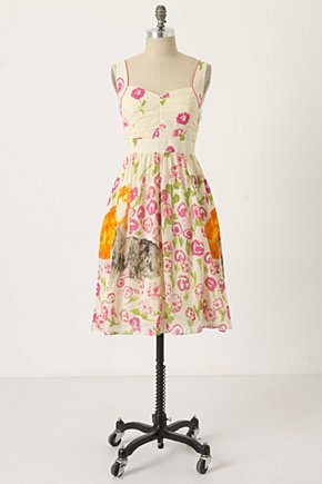 Botanical Stroll Dress - Anthropologie.com :  pink grey green orange
