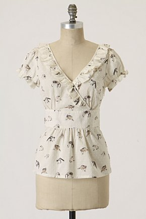 Feline Frenzy Blouse - Anthropologie.com :  cat blouse cute swiss dot