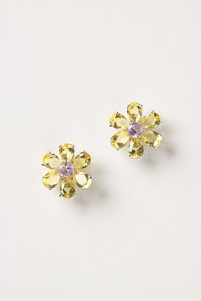 Yellow Stargrass Posts-Anthropologie.com :  posts studs accessory silver