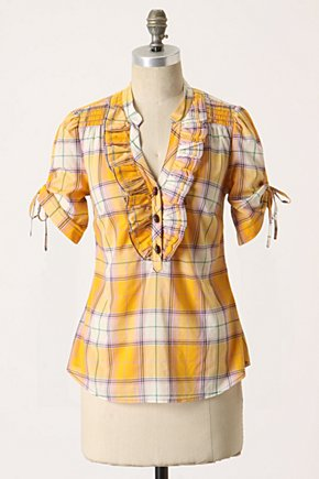 Sunday Supper Shirt - Anthropologie.com :  placket tie sleeves country inspired ruffles