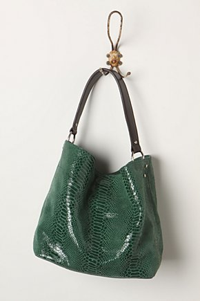 Mamba Bag - Anthropologie.com :  tote emerald snakeskin
