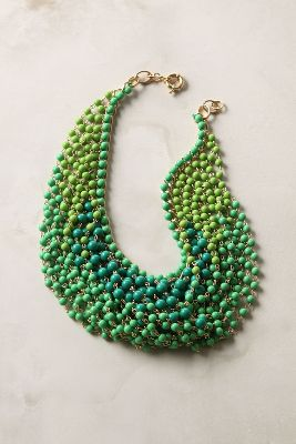 Beaded Swag Bib Necklace