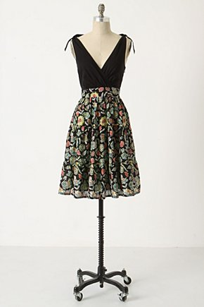 Polynesia Greetings Dress - Anthropologie.com :  sundress voile tie shoulder tropical print