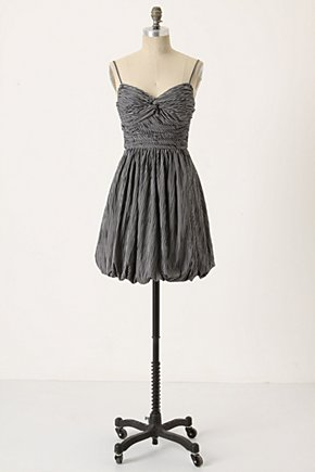Choreographed Dress - Anthropologie.com :  striped ruched black and white twisted