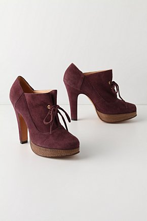 Caladoc Heels - Anthropologie.com :  suede oxfords grape lace up