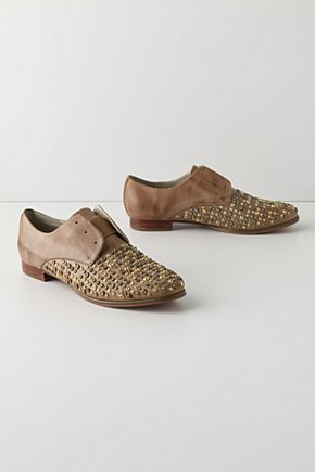 Gold-Flecked Oxfords - Anthropologie.com :  oxfords studs womens shoes shoes