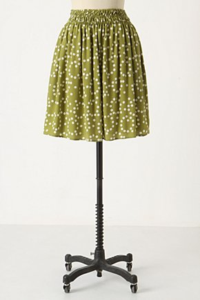 Mossy Atoms Skirt - Anthropologie.com :  smocked silk airy moss