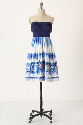 First Dance Dress - Anthropologie.com :  blue party frock watercolor voile