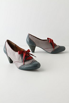 Peppermint Swirl Spectators - Anthropologie.com :  lace up leather christmas beige
