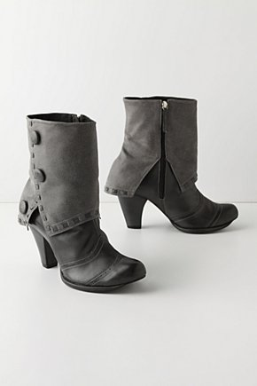 Cloaked & Buttoned Booties - Anthropologie.com :  leather cute buttons ebony