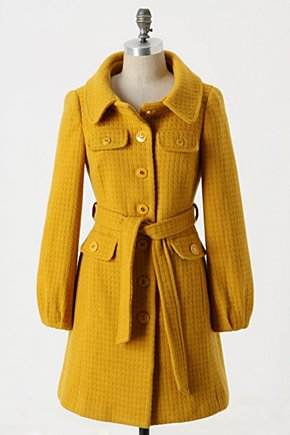Harvested Honey Coat - Anthropologie.com :  wool blend coat sunny front pockets