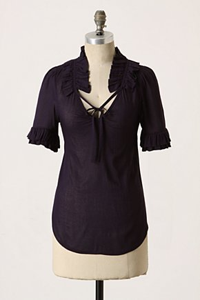 Bianka Blouse - Anthropologie.com :  blouse victorian inspired purple ruffled