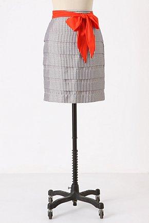 Fine Line Skirt-Anthropologie.com :  wool striped gauzy black and white