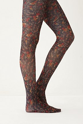Anthropologie - Flower Tights :  anthropologie flower tights tights fall