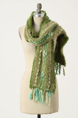 Downy Canals Scarf - Anthropologie.com :  fuzzy yarn chenille scarf