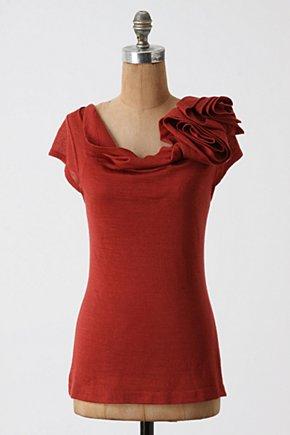 Flower Vendor Top-Anthropologie.com :  wool blend jersey swirly tee