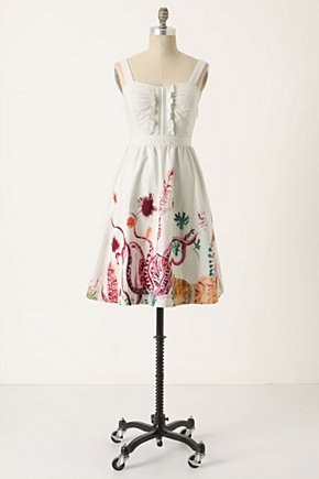 Marine Mural Dress - Anthropologie.com :  marine inspired smocked ruffles cotton