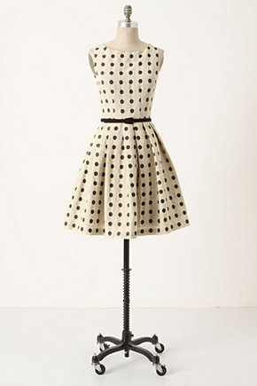 Mullany Dress - Anthropologie.com :  party frock polka dots flouncy retro inspired