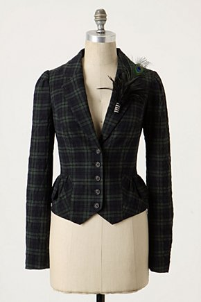 Garment District Blazer - Anthropologie.com :  blazer lapel feather front pockets