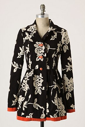 Phlox & Coral Coat - Anthropologie.com :  coat plush canvas velvet