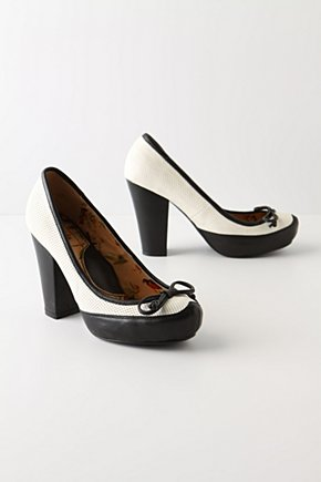 Classic TV Heels - Anthropologie.com :  platform pumps leather perforated