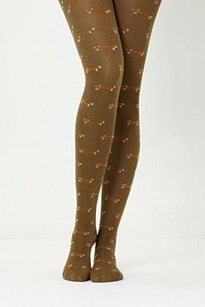 Foxy Tights - Anthropologie.com :  fox green tights opaque