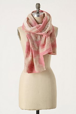 Dappled Islet Scarf - Anthropologie.com :  wool acrylic scarf felt